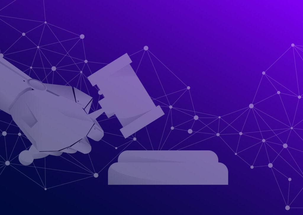 Ilustracija ruke koja drži čekić koja predstavlja Data Protection Officer-a
